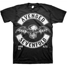 AUTHENTIC AVENGED SEVENFOLD DEATHBAT CREST MUSIC ROCK BAND T SHIRT S M L XL 2XL