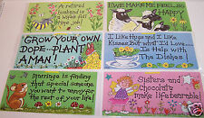 SMILEY SIGNS HANGING WALL PLAQUE RELATIONSHIPS THEME HUMOROUS 10 X 21CM