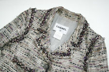 NEW Chanel White Purple Black Tweed Fantasy Jacket Blazer Size Small FR38 US4 6