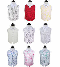 Special Occasion Boy's Scroll Polyester Wedding Waistcoat - Size 2 - 14 Years