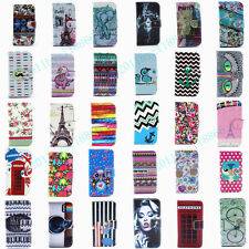 30 Styles Cartoon Painting Flip Wallet PU Leather Stand Case Cover For Samsung
