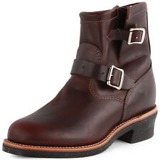 Chippewa 1901M52 Mens Leather Oxblood Biker Boots New Shoes All Sizes