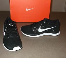 NEW NIKE FLYKNIT LUNAR 1+ SHOES FLYKNIT KANYE BLACK/WHITE 554887-011 RETAIL $160