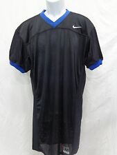 College Authentic Blank Football Jersey Black Royal Trim