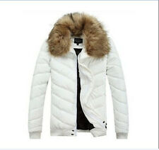 2014 WINTER NEW KOREAN FUR COLLAR CULTIVATE ONE'S MORALITY MEN'S DOWN JACKET COA