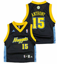 Adidas NBA Toddlers Denver Nuggets Carmelo Anthony # 15 Replica Jersey - Navy