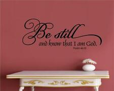 Be Still And Know That I Am God Vinyl Decal Wall Stickers Letters Word Religious