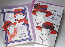 Red Hat Birthday Cards / 2 Styles / Fabulous Birthday or Right Hattitude / NEW