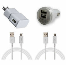 Home Wall + Car Charger + 2 Sync Data Micro USB Cable for Android Smart Phones