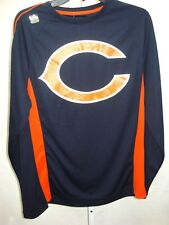 Chicago Bears Football Adult Big Dotted C Long Sleeve Shirt Navy New with Tags