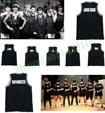 BTS BANGTAN BOYS KPOP Jersey Basketball Singlet  Shirt Black Sleeveless T-shirt