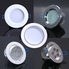 White/Silver 5W LED Downlight House Room Ceiling Recessed lamp bulb Complete Kit