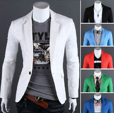 Mens Slim Fit Stylish Casual One Button Suit Coat Jacket Blazers USA Seller