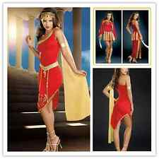 SEXY WOMEN RED CLEOPATRA Costume Egyptian Queen Fancy Dress Goddess New Outfit