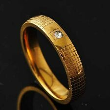 Mesh Womens Yellow Gold Filled Clear CZ Ring Size 8-11# D2743-D2746