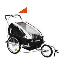 Confidence 2-in-1 Double Baby/Child/Kids Bicycle Bike Trailer /Jogger /Stroller