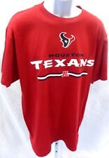 Houston Texans Football Adult Logo Houston Texans A Short Sleeve T-Shirt Red New
