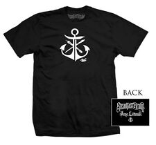 Men's Anchor by Jime Litwalk Artist Paint Brushes Tattoo Art Black T-Shirt Tee