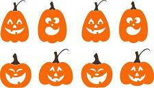 Pumpkins With Faces Halloween Fall Decor Vinyl Decal Wall Stickers Letters Words