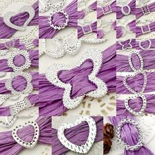 Acrylic Silver Toned Buckle/Ribbon Slider Butterfly/Rectangle/Circle/Square