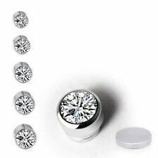 Shiny Magnetic Crystal Fake Stud Earrings, Clip On Non Piercing Earring Gift