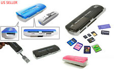 New USB STICK MULTI MEMORY CARD READER CAMERA SD MINI SDHC MS MICRO M2 TF MMC