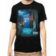Doctor Who Tardis in the Forest Men's T-shirt Tee Tshirt  (DR7)