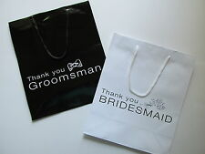 4 BRIDESMAID or GROOMSMAN Paper Gift BAGS You Pick FREE SHIP wedding party favor
