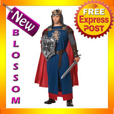 C640 Richard The Lionheart King Arthur Medieval Knight Renaissance Mens Costume