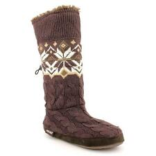 Muk Luks Nordic Snowflake Toggle Womens Textile Fashion Mid-Calf Boots