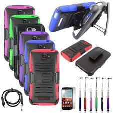 Phone Case For Alcatel One Touch Fierce 2 Holster Cover Stand USB Charger Stylus