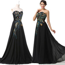 Victorian Peacock Masquerade Long Gown Party Cocktail Evening Bridesmaid Dresses