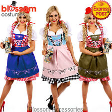 K3 Oktoberfest Costume Bavarian German Heidi Dirdnl Leiderhosen Beer Wench Maid