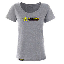 Factory Effex Women's Rockstar Energy Split Grey T-Shirt Tee Ladies Women NEW