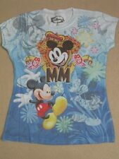 JUNIORS DISNEY MICKEY MINI MOUSE Lt. BLUE SHIRT TEE DRAWING NEW TSHIRT M MEDIUM