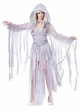 Adult Sexy Haunting Beauty Day Of The Dead Ghost Bride Reaper Costume Halloween