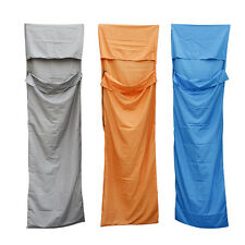 Pongee Single Liner Sleeping Bag Inner Travel Hostel Sheet Sack Camping Portable