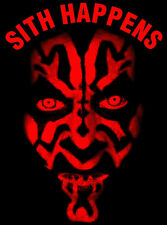 "T-Shirt Star Wars ""Sith Happens"" Darth Maul Gesicht Kinder"