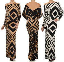 MOCHA or OFF WHITE & BLACK MULTIWAY Reversible PLUNGING Convertible MAXI DRESS