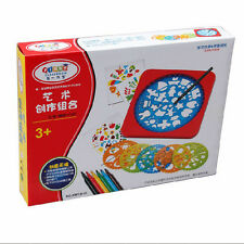 Children Paint Brush Tool Boxes Gift Package Combinations Painting Template