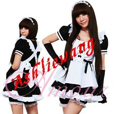 Sexy Japanese Halloween Cosplay  Lolita Gothic French Sweet Maid Costume@V1102bk