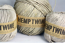 100% Natural HEMP TWINE . Various  0.5MM-1MM- 2MM- 3MM- 4MM Macrame-Crafts