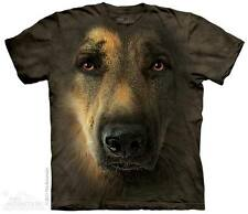 THE MOUNTAIN GERMAN SHEPHERD PORTRAIT DOG FACE HAIRY T TEE SHIRT S-5XL