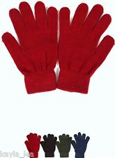 """Stretch Acrylic Sweater Knit Driving Gloves/Hand Warmers 7"""" *5 Colors*"""