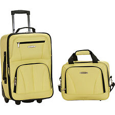 Rockland Luggage Rio 2 Piece Carry On Luggage Set 32 Colors