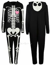 Adults George Skeleton Glow in the Dark Onesie XS S M L Ladies Mens Pyjamas