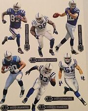 """Indianapolis Colts Mini FATHEAD Official NFL Vinyl Wall Graphics 7"""" - PICK ONE"""