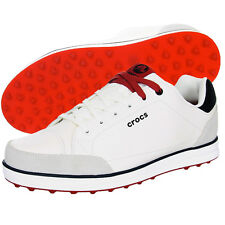 Crocs Men's Karlson Leather Spikeless Golf Shoes - NEW