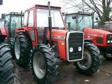 Massey Ferguson 200 series tractor bonnet stickers / decals (Latest Model)