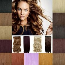 17-30 3/4 Full Head Hairpiece One Piece 5clip In Hair Extension Curly Wavy US 1E